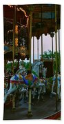 Carousel And Eiffel Tower Bath Towel