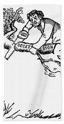 Cartoon: Secession, 1861 Bath Towel