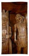 Carved American Indians Bath Towel