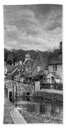 Castle Combe England Monochrome Bath Towel