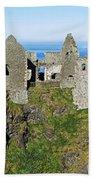 Castle On A Cliff, Dunluce Castle Bath Towel