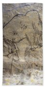 Cave Art - Mammoth And Ibexes Bath Towel