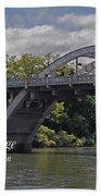 Caveman Bridge With Text Bath Towel