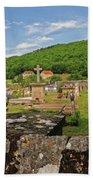 Cemetery In France Bath Towel