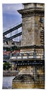 Chain Bridge  Budapest Bath Towel