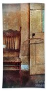 Chair By Open Door Bath Towel