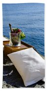 Champagne With Two Pillows Bath Towel