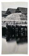Charleston South Carolina - Vanderhorst Wharf - C 1865 Bath Towel
