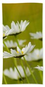 Cheerful Daisy Wildflowers Blowing In The Wind Bath Towel