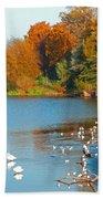 Chester In Autumn Bath Sheet