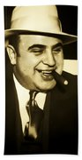 Chicago Gangster Al Capone Bath Towel