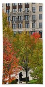 Chicago In Autumn Bath Towel
