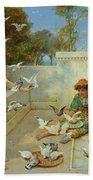 Children By The Mediterranean  Bath Towel