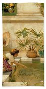 Children Playing With Boats Bath Towel