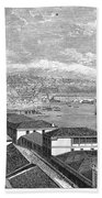 Chile: Valparaiso, 1865 Bath Towel