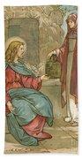 Christ And The Woman Of Samaria Bath Towel