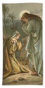 Christ In The Garden Of Gethsemane Hand Towel