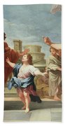 Christ Preaching In The Temple Bath Towel
