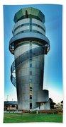 Christchurch Airport's Control Tower Bath Towel