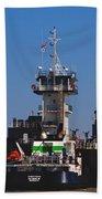 Christiana Oil Tanker Sitting In Galveston Tx Bath Towel