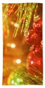 Christmas Baubles Hand Towel