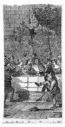 Christmas Feast, 1838 Bath Towel