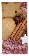 Christmas Gingerbread Bath Towel by Nailia Schwarz