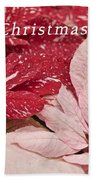 Christmas Poinsettias Bath Towel