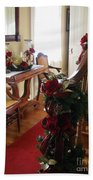 Christmas Rose And Stairs  Bath Towel