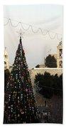 Christmas Tree In Manger Square Bethlehem Bath Towel