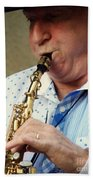Christopher Mason Alto Sax Player Bath Towel
