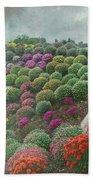Chrysanthemum Garden - Ott's Greenhouse Schwenksville Pa Bath Towel