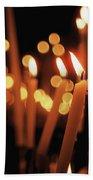 Church Candles Bath Towel