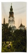 Church In Czestochowa - Poland - Ca 1900 Bath Towel