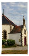Church Off The Brittany Coast Bath Towel