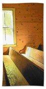 Church Pews - Light Through Window Bath Towel