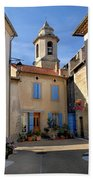 Church Steeple In Provence Bath Towel
