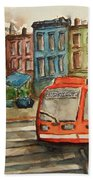 Cincinnati Streetcar Hand Towel
