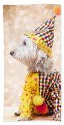 Circus Clown Dog Bath Towel