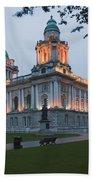 City Hall Illuminated Belfast, County Bath Towel