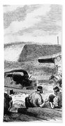 Civil War Battery Scene Bath Towel