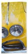 Classic Antique Chevy Corvette - Detail Bath Towel