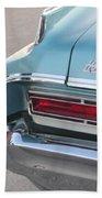 Classic Car Aqua Holiday Bath Towel