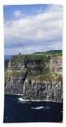 Cliffs Of Moher, Co Clare, Ireland Bath Towel