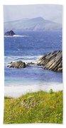 Clogher Beach, Blasket Islands, Dingle Bath Towel