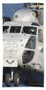 Close-up Of A Ch-53 Sea Stallion Bath Towel