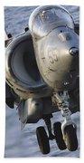 Close-up View Of An Av-8b Harrier II Bath Towel