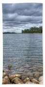 Clouds Over The American River Bath Towel