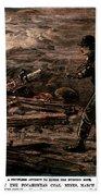 Coal Mine Explosion, 1884 Bath Towel