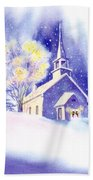 Coastal Church Christmas Bath Towel